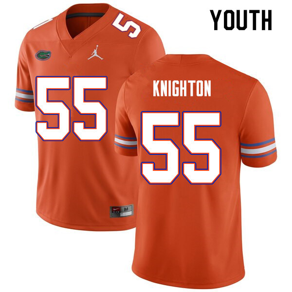 Youth #55 Hayden Knighton Florida Gators College Football Jerseys Sale-Orange