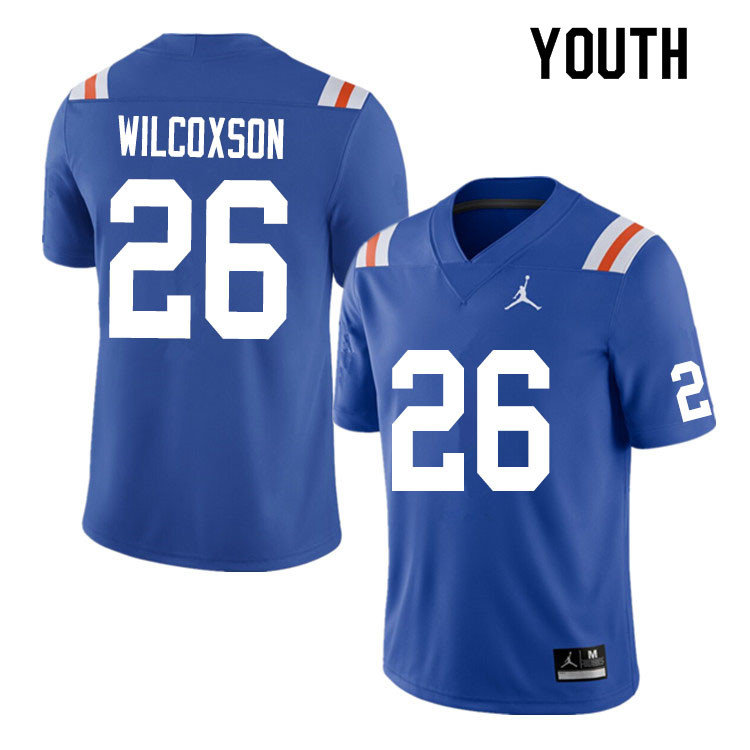 Youth #26 Kamar Wilcoxson Florida Gators College Football Jerseys Sale-Throwback