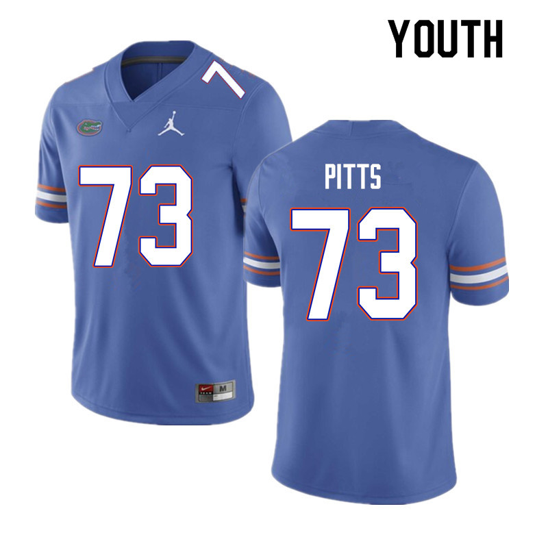 Youth #73 Mark Pitts Florida Gators College Football Jerseys Sale-Blue