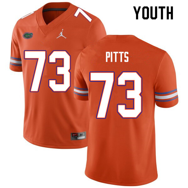Youth #73 Mark Pitts Florida Gators College Football Jerseys Sale-Orange