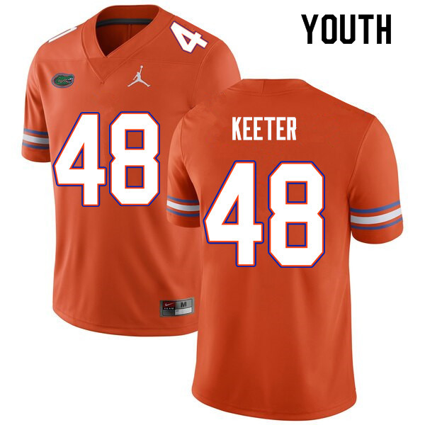 Youth #48 Noah Keeter Florida Gators College Football Jerseys Sale-Orange