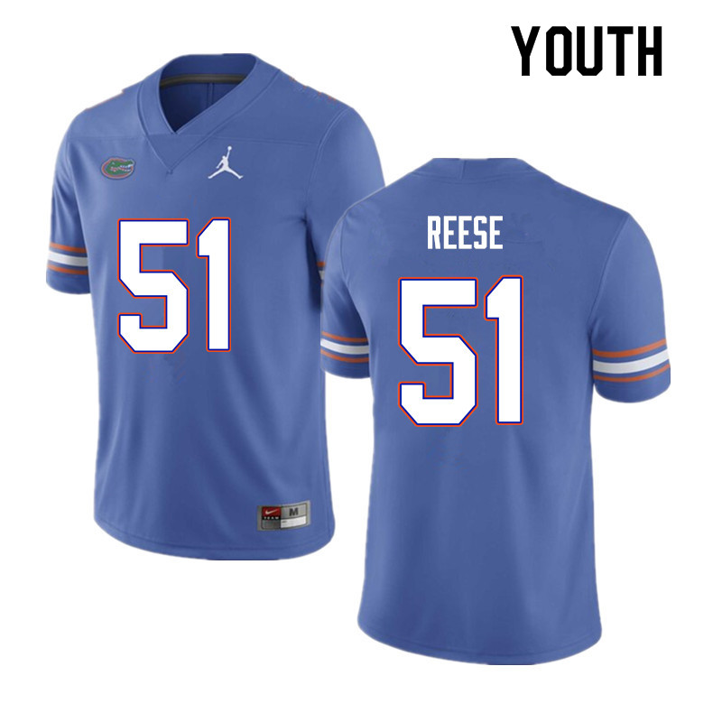 Youth #51 Stewart Reese Florida Gators College Football Jerseys Sale-Blue