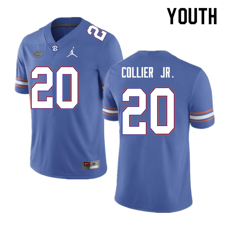 Youth #20 Corey Collier Jr. Florida Gators College Football Jerseys Sale-Royal