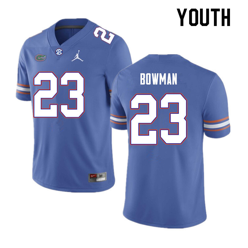 Youth #23 Demarkcus Bowman Florida Gators College Football Jerseys Sale-Royal
