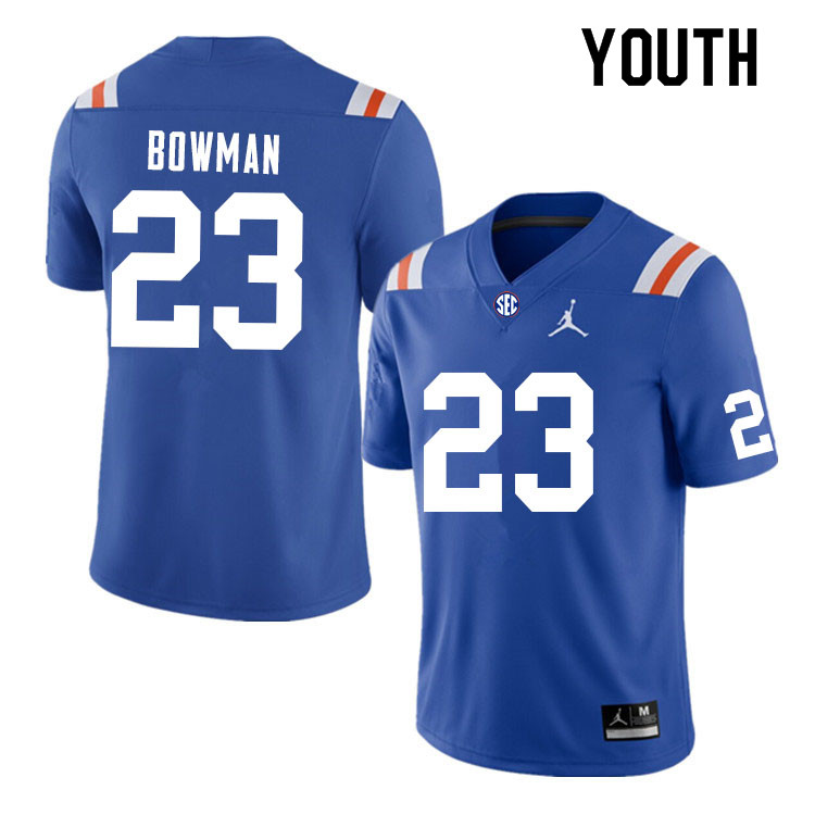 Youth #23 Demarkcus Bowman Florida Gators College Football Jerseys Sale-Throwback