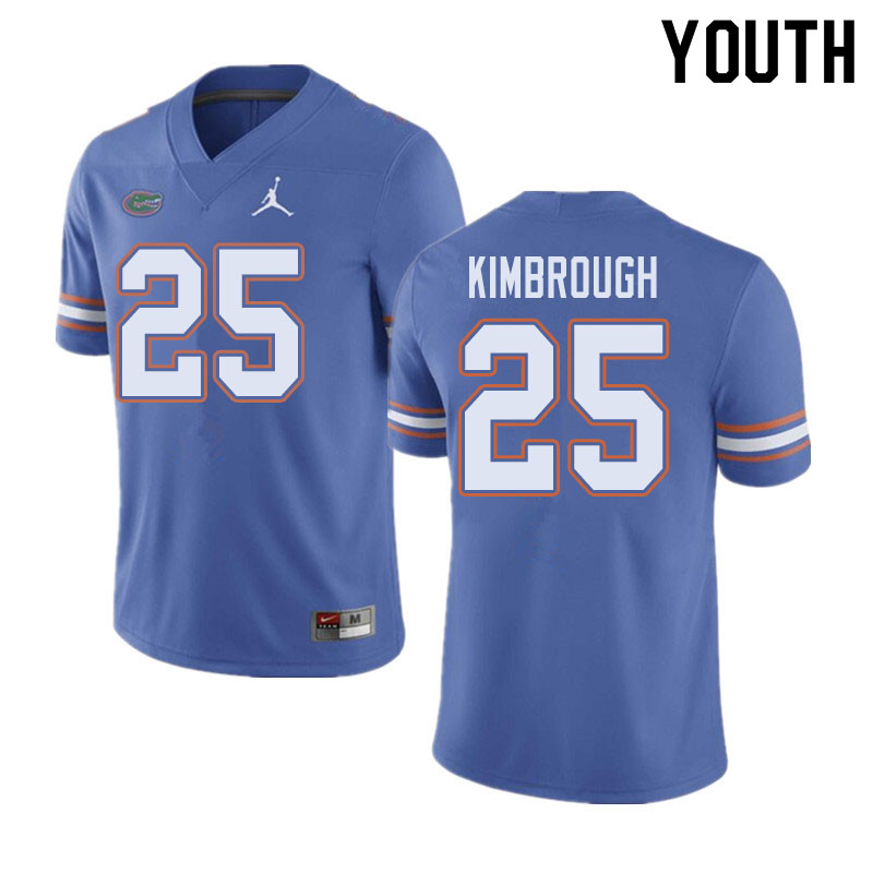 Jordan Brand Youth #25 Chester Kimbrough Florida Gators College Football Jerseys Sale-Blue