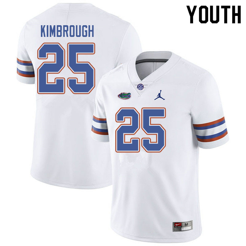Jordan Brand Youth #25 Chester Kimbrough Florida Gators College Football Jerseys Sale-White