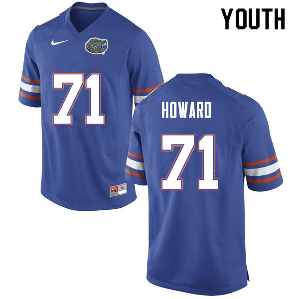 Youth #71 Chris Howard Florida Gators College Football Jerseys Sale-Blue