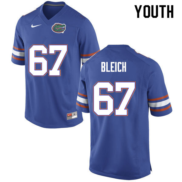 Youth #67 Christopher Bleich Florida Gators College Football Jerseys Sale-Blue