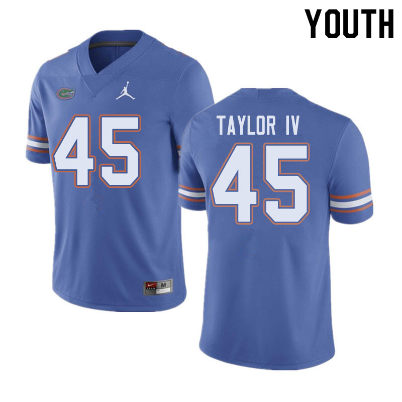 Jordan Brand Youth #45 Clifford Taylor IV Florida Gators College Football Jerseys Sale-Blue