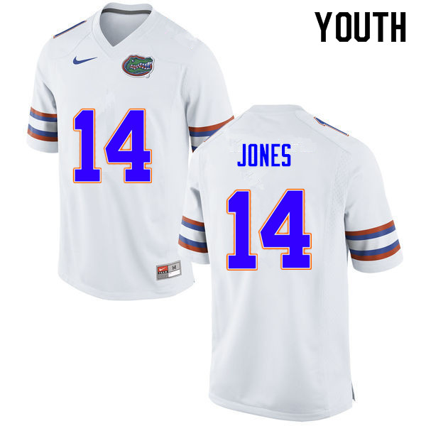 Youth #14 Emory Jones Florida Gators College Football Jerseys Sale-White