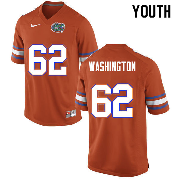 Youth #62 James Washington Florida Gators College Football Jerseys Sale-Orange