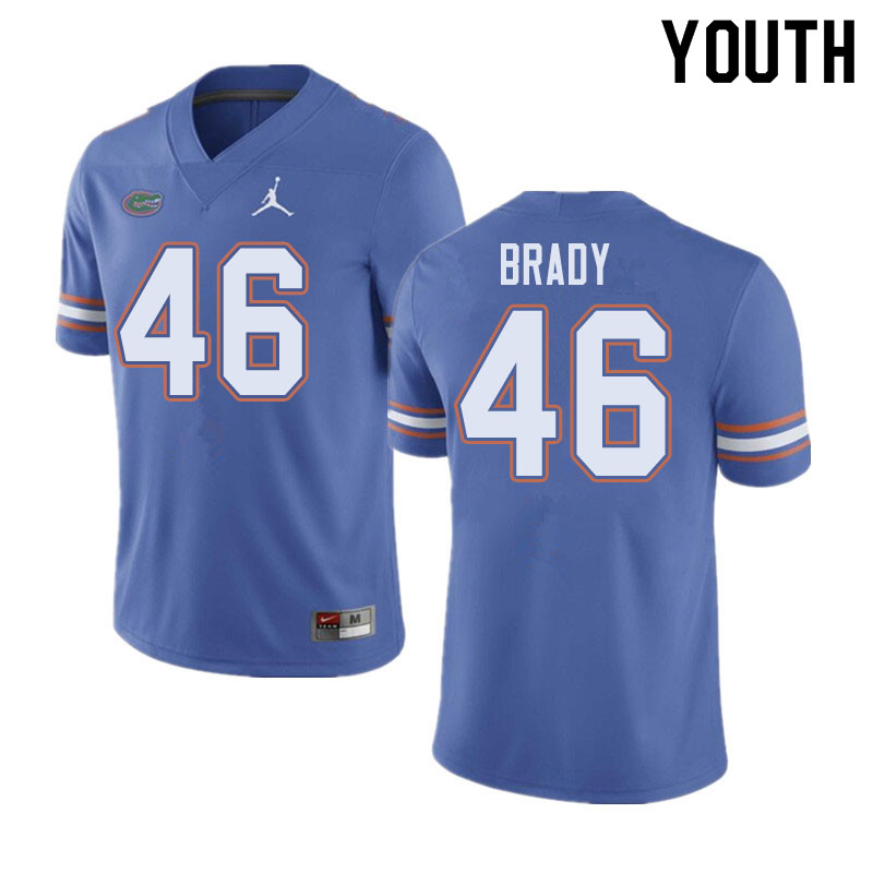 Jordan Brand Youth #46 John Brady Florida Gators College Football Jerseys Sale-Blue