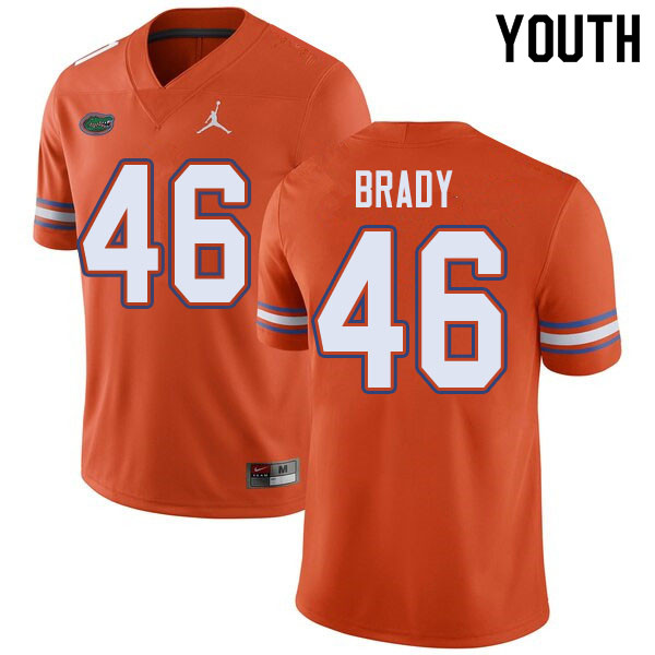 Jordan Brand Youth #46 John Brady Florida Gators College Football Jerseys Sale-Orange