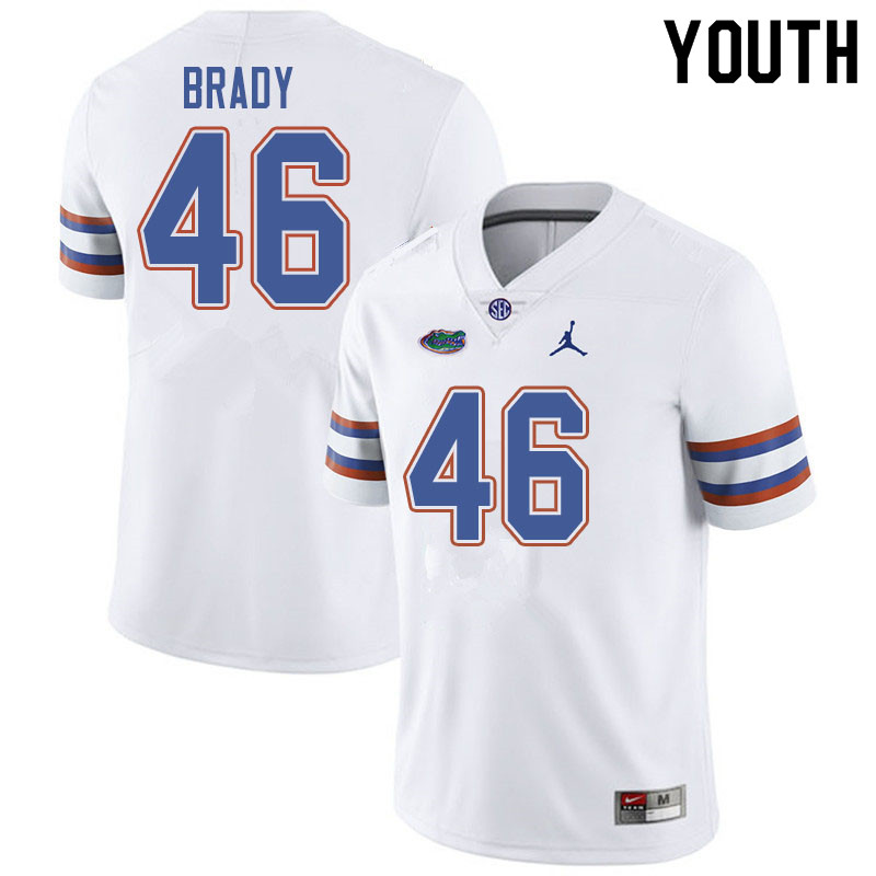 Jordan Brand Youth #46 John Brady Florida Gators College Football Jerseys Sale-White