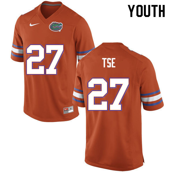 Youth #27 Joshua Tse Florida Gators College Football Jerseys Sale-Orange