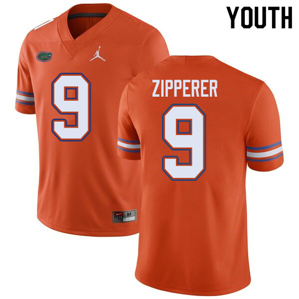 Jordan Brand Youth #9 Keon Zipperer Florida Gators College Football Jerseys Sale-Orange