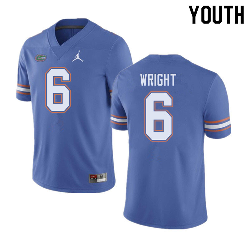 Jordan Brand Youth #6 Nay'Quan Wright Florida Gators College Football Jerseys Sale-Blue