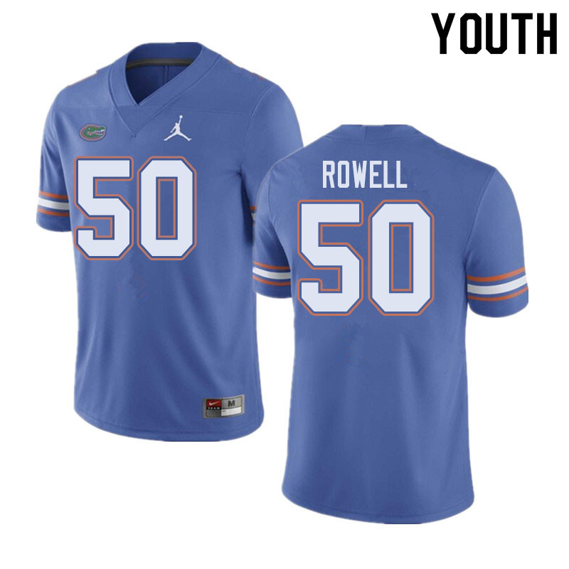 Jordan Brand Youth #50 Tanner Rowell Florida Gators College Football Jerseys Sale-Blue
