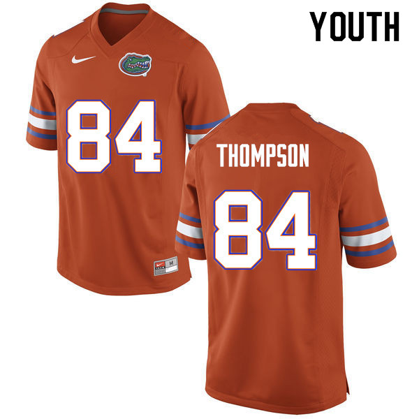 Youth #84 Trey Thompson Florida Gators College Football Jerseys Sale-Orange
