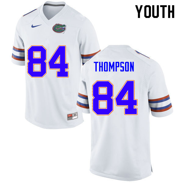 Youth #84 Trey Thompson Florida Gators College Football Jerseys Sale-White