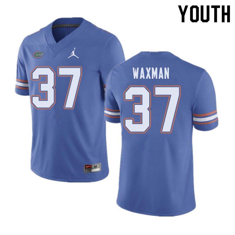 Jordan Brand Youth #37 Tyler Waxman Florida Gators College Football Jerseys Sale-Blue