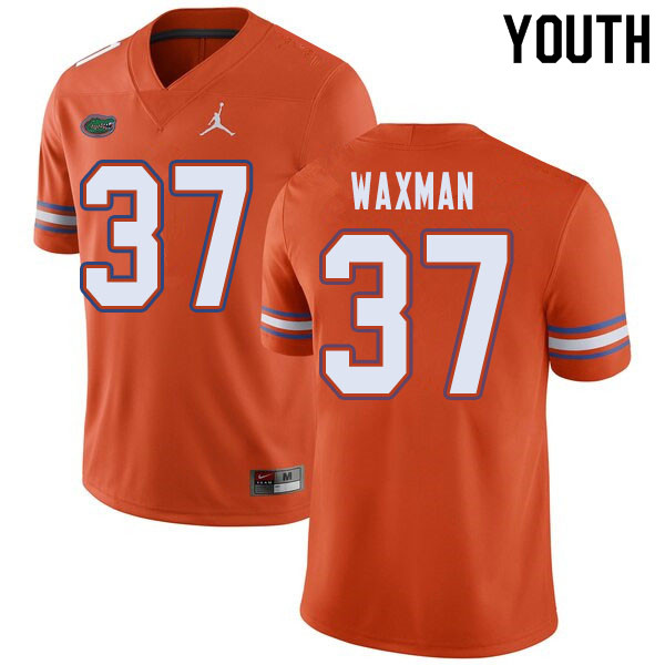 Jordan Brand Youth #37 Tyler Waxman Florida Gators College Football Jerseys Sale-Orange